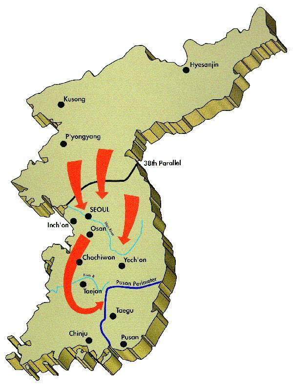 Osan South Korea Map.1st Cavalry Division History Korean War 1950 1951