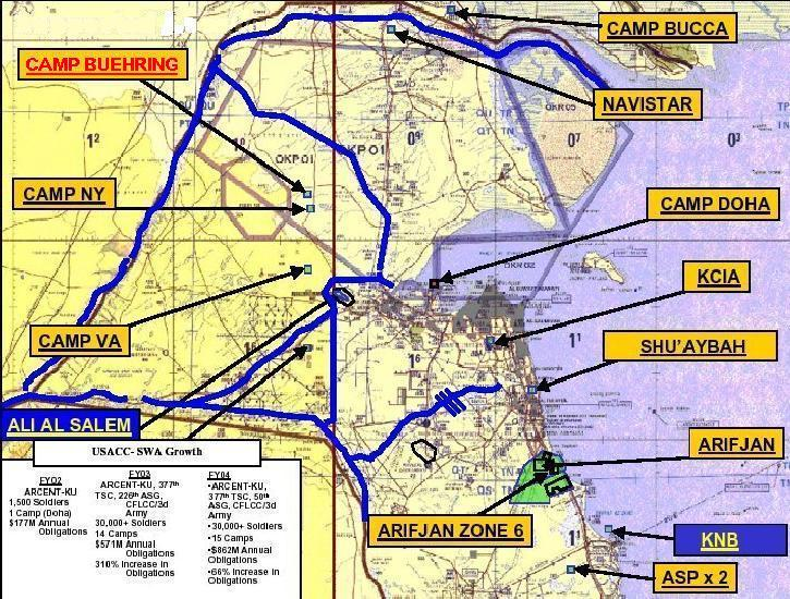 Map Of Camp Arifjan Kuwait 1st Cavalry Division   Camp Buehring, Kuwait